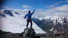 This is the view we will enjoy on some days on the Tystig glacier, Snow, glacier, oppstryn, and lake Hjelle.