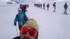 selfie with a view! Happy guests glacier walking on the Tystig glacier in Stryn, Nordfjord