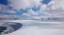 "The lake that ""comes and goes"" on the top of the Tystig glacier in Stryn, Destination Nordfjord"